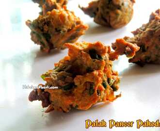 Palak Paneer ( Spinach Cottage Cheese ) Pakoda Recipe