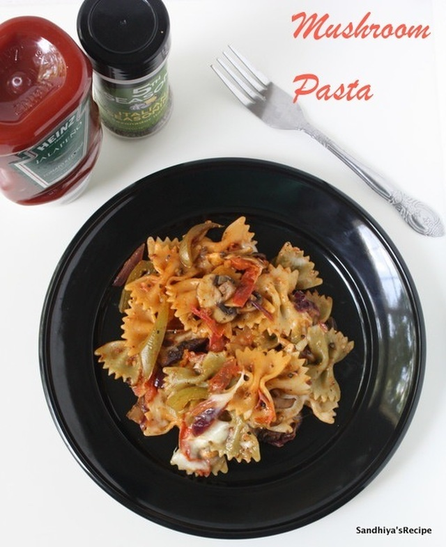 Mushroom Pasta | Mushroom Pasta in tomato sauce | Dinner recipes