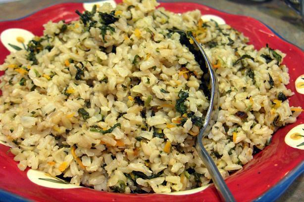 Spinach and Lemon Rice Pilaf