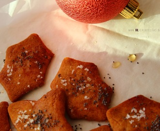 Bolachinhas de Mel, Sementes de Papoila e Flor de Sal | Cookies with Honey, Poppy Seeds and Flower of Salt