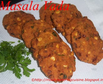 Masala Vada -- Masala Vadai -- How to make Masala Vada