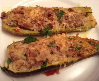 Courgettes farcies au four
