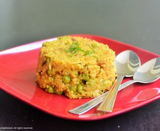 Spicy quinoa and oats porridge/upma
