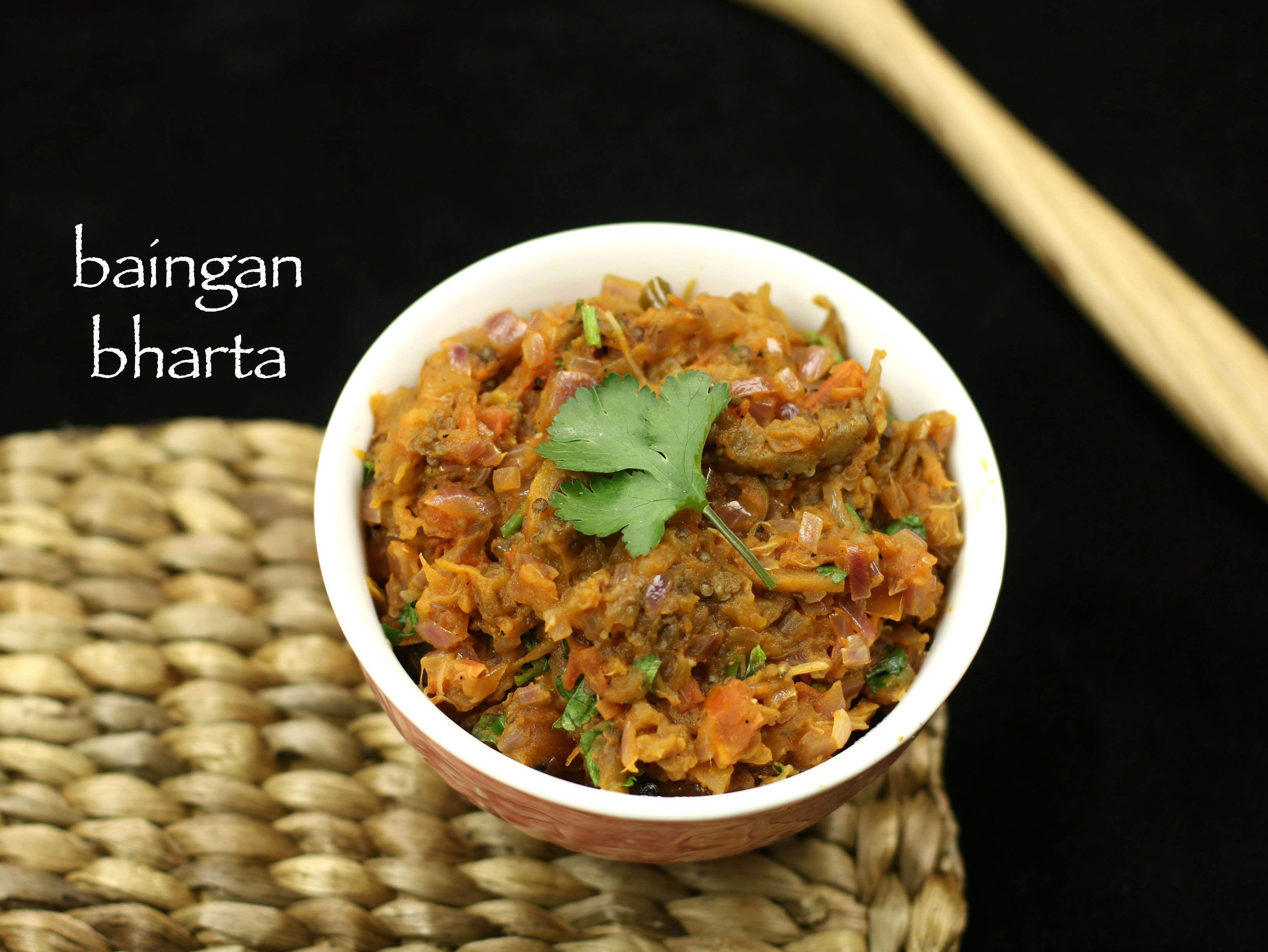 baingan bharta recipe | roasted eggplant curry recipe