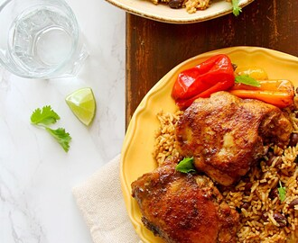 Caribbean Jerk Chicken With Rice & Beans