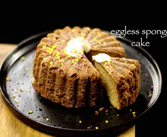 eggless sponge cake recipe | eggless vanilla cake recipe in cooker