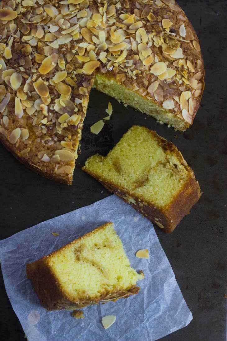 SAFFRON ALMOND COFFEE CAKE | With Almond Streusel