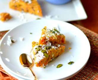 Carrot and Coconut barfi / fudge – easy festival recipe