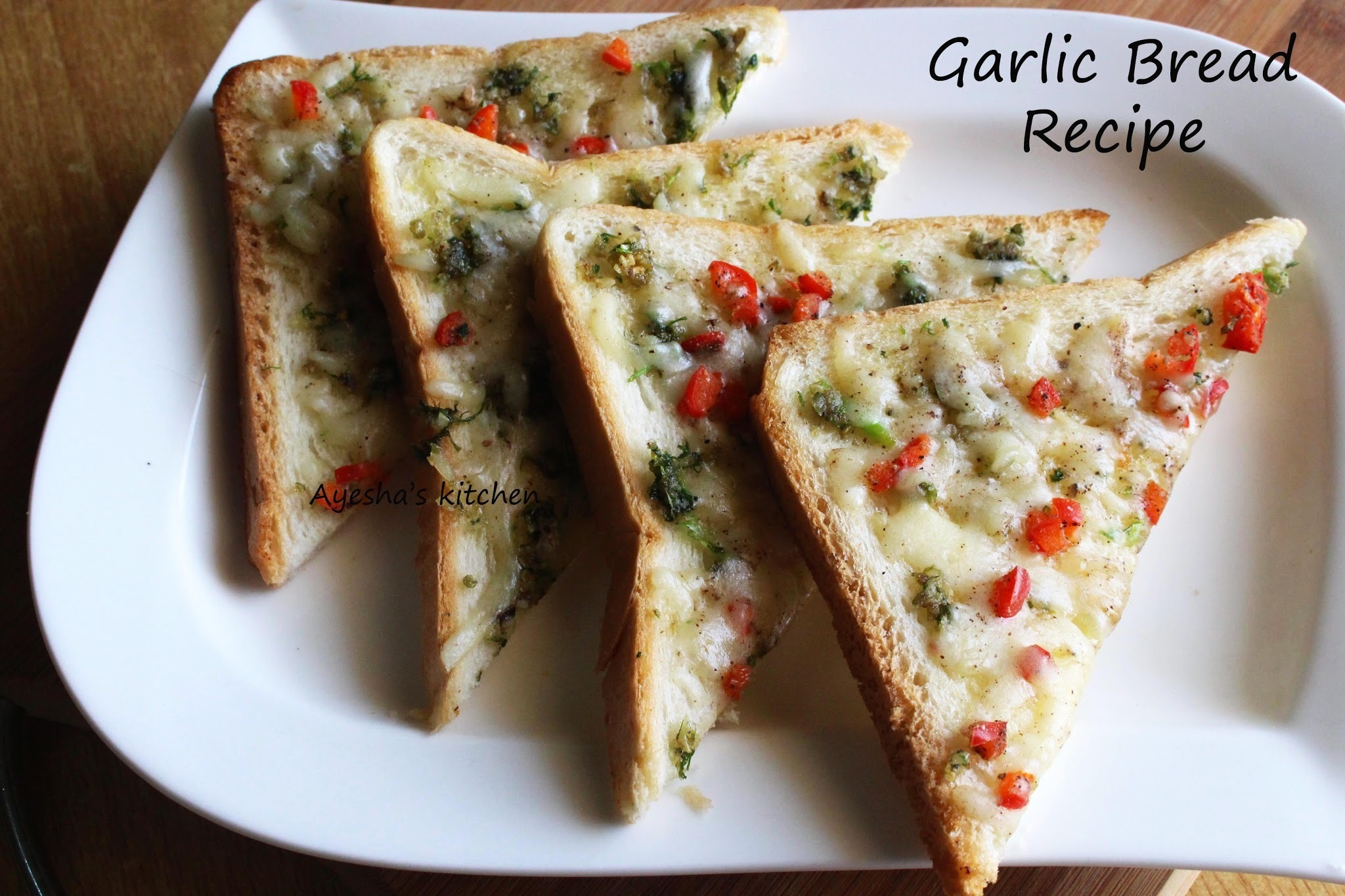 EASY GARLIC BREAD RECIPE - EASY HEALTHY SNACKS / NO OVEN RECIPES