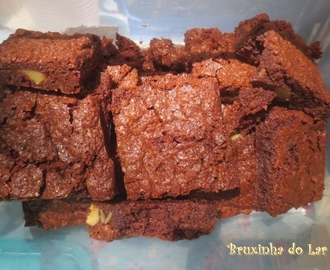 Brownies de chocolate sem farinha