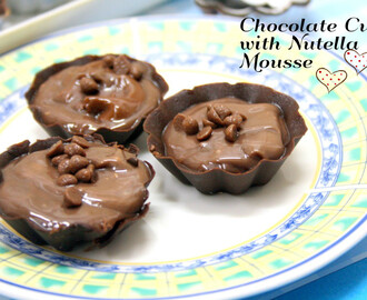 Nutella Mousse in Chocolate Cups ~ Nutella Recipes