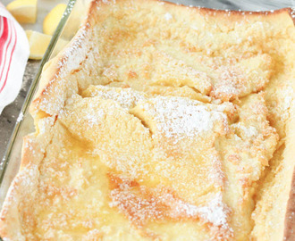 The German Oven Pancakes, It's Like Eating Crepes & Deliciously Lemony!