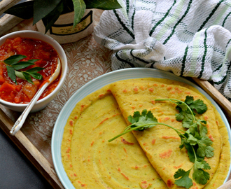 Moong dal Cheela | Yellow mung savory crepe