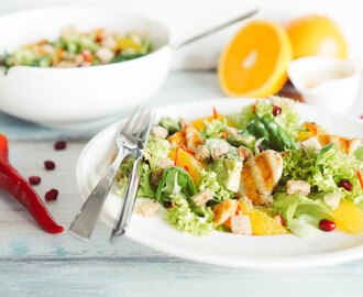 Bunter Salat mit Orangendressing