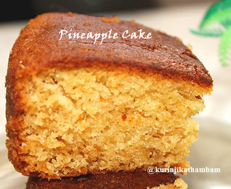 Eggless Pineapple Cake with Condensed Milk
