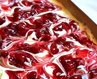 Cherry Cheesecake Surprise Layered Dessert