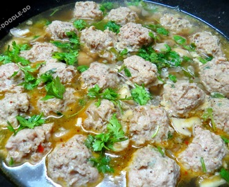 (Chicken) Meat Ball Soup