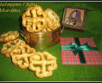Achappam Recipe / Achu Murukku Recipe / Rose Cookies Recipe / Sesame Honeycomb Cookie Recipe / Rosettes Cookie Recipe / Kerala Style Achappam Recipe