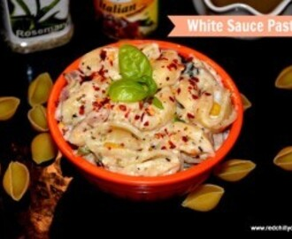 Vegetable Pasta in White Sauce Recipe