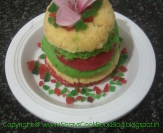 Layered Cake - Sandwich Cake - How to build a colorful layered cake