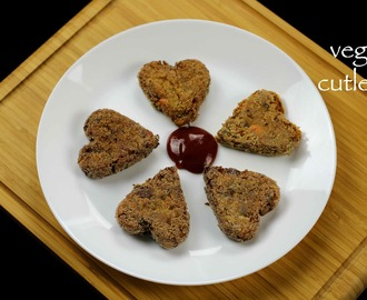 veg cutlet recipe | mixed vegetable cutlet recipe
