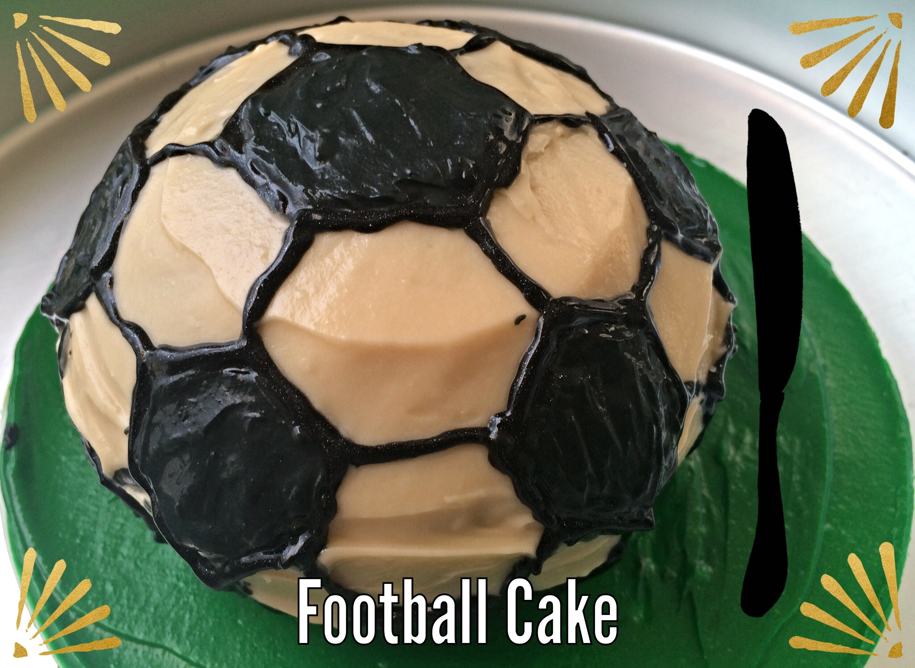 Eggless Chocolate Football Cake