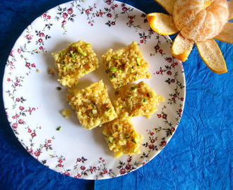 kalakand recipe with paneer and condensed milk / Orange Kalakand burfi recipe /