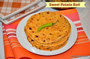 Sweet Potato Roti | Sweet Potato Chapati