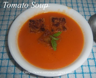 Tomato Soup Recipe -- How to make Tomato Soup at Home