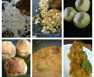 Stuffed tinda in gravy | stuffed round guard