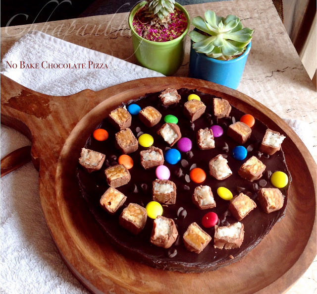 No Cook No Bake Chocolate Pizza