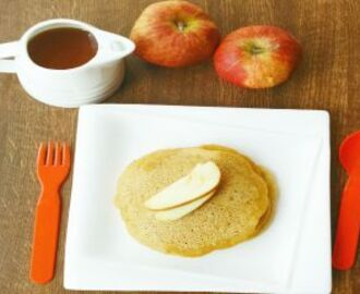 Eggless Apple Whole Wheat Pancake Recipe