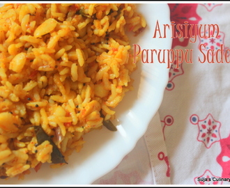 Guest Post:Arisiyum Paruppum Sadam using avaraiparuppu(Lentil Flavored  Rice)