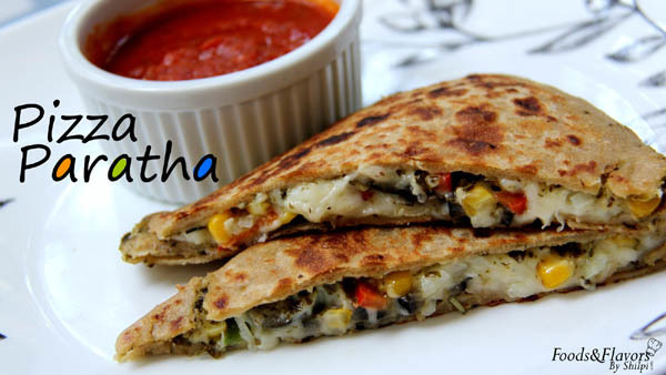 Pizza Paratha Recipe | How to make Pizza Paratha | Easy Pizza Paratha