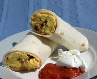My Sausage Breakfast Burritos