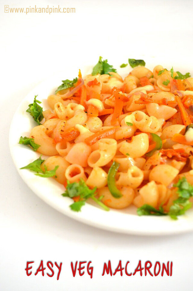 Easy Veg Macaroni Recipe in Indian style
