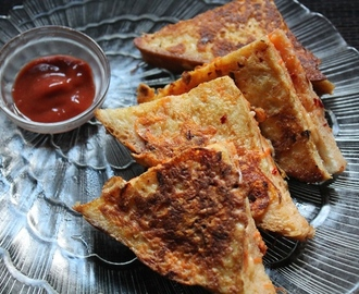 Cheese French Toast Recipe - Cheese Stuffed French Toast Recipe