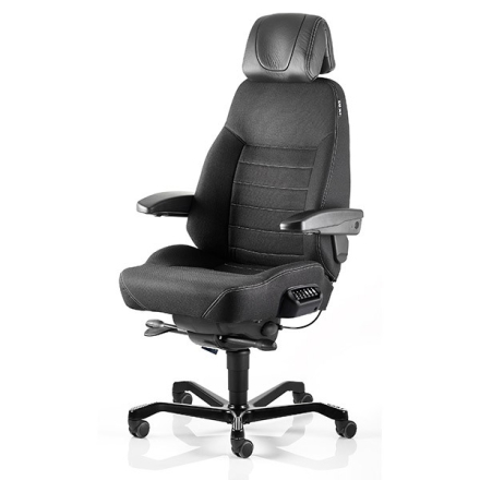 KAB Seating Executive ACS White-Line Svart Fighter