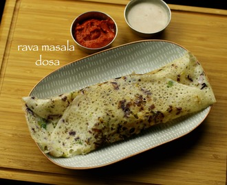 rava dosa with aloo masala recipe | instant onion rava dosa with aloo bhaji