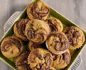 Banana Nutella Swirl Muffins (Eggless recipe)