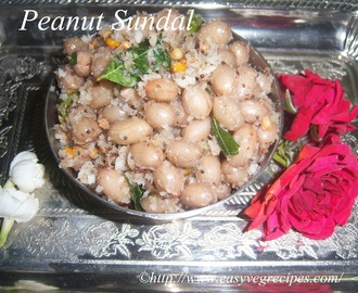 Peanut Sundal Recipe -- How to make Peanut Sundal -- Navratri Specials