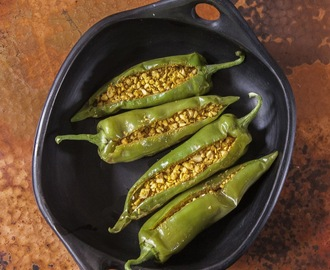 South Indian Style Stuffed Chiles, There is Nothing Faster Than This!!
