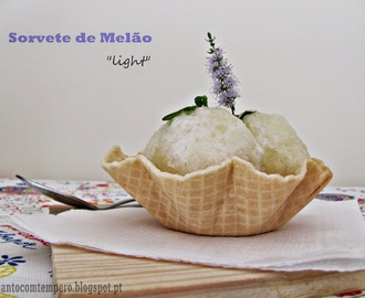 "Sorvete de melão ""light"""