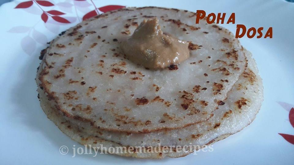 Poha Dosa or Avalakki Dosa Recipe, How to make Poha Dosa Recipe