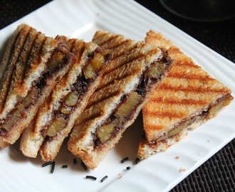 Nutella Banana Sandwich Recipe - Grilled Banana and Nutella Panini Recipe