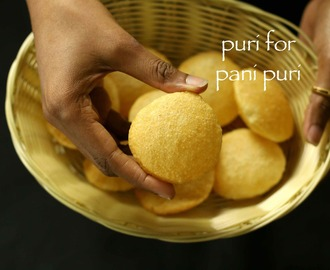 puri recipe for pani puri | golgappa puri recipe for pani puri