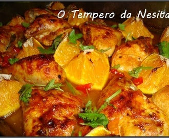 Frango Assado com Sweet Chilli e Citrinos