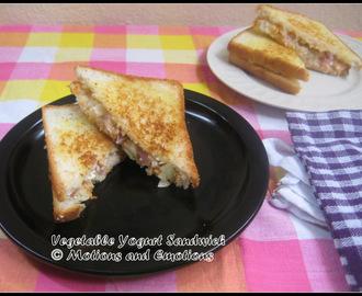 Vegetable Yogurt Sandwich / Vegetable Curd Sandwich