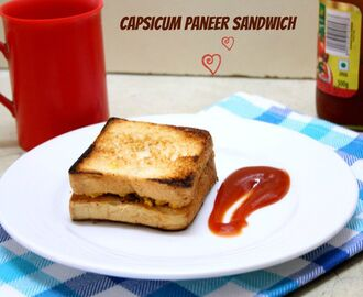 Capsicum Paneer Sandwich ~ Easy Breakfast for Kids
