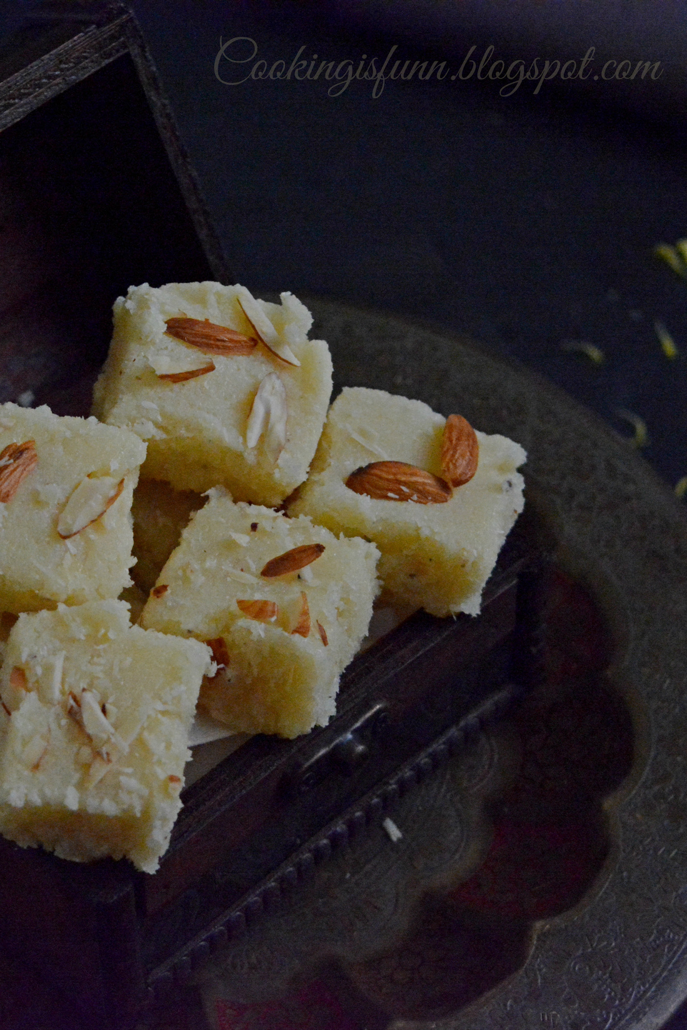 Rose Coconut Barfi